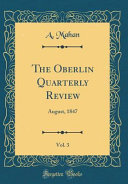 The Oberlin Quarterly Review Vol 3
