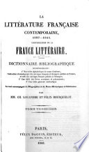 La litt  rature fran  aise contemporaine  XIXe si  cle