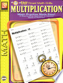 Easy Timed Math Drills Multiplication book