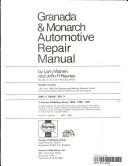 Haynes Ford Granada And Mercury Monarch Owners Workshop Manual 75 80
