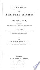 Remedies and Remedial Rights by the Civil Action  According to the Reformed American Procedure