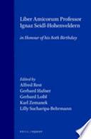 Liber Amicorum Professor Ignaz Seidl-Hohenveldern