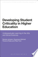 Developing Student Criticality in Higher Education