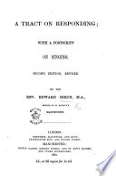A Tract on Responding  with a postscript on singing  Second edition  revised Book PDF
