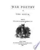 War Poetry of the South Book PDF