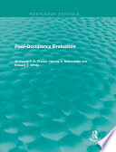 Post Occupancy Evaluation  Routledge Revivals