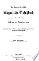 """""""Das"""" allgemeine österreichische bürgerliche Gesetzbuch"""