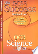 GCSE OCR Science Higher Success Revision Guide