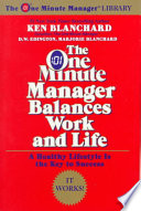 The One Minute Manager Balances Work and Life Book PDF