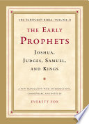 The Early Prophets  Joshua  Judges  Samuel  and Kings