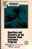 Questions and Answers on the National Flood Insurance Program