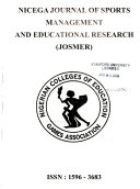 NICEGA Journal of Sports Management and Educational Research