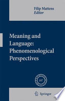 Meaning and Language  Phenomenological Perspectives