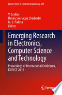 Emerging Research In Electronics Computer Science And Technology book