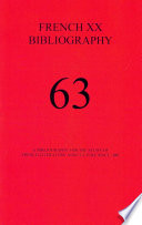 A Bibliography For The Study Of French Literature And Culture Since 1885 : ...