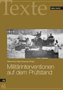 Militärinterventionen: verheerend und völkerrechtswidrig