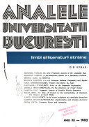Analele Universit    ii Bucure  ti