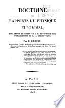 Doctrine des rapports du physique et du moral