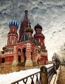 Saint Basil Cathedral in the Russian Winter  Jumbo Oversized