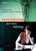 Psychologie f  r den Alltag