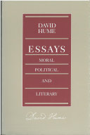 Essays  Moral  Political  and Literary Book PDF