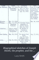 Biographical Sketches of Joseph Smith  the Prophet  and His Progenitors for Many Generations