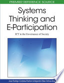 Systems Thinking and E Participation  ICT in the Governance of Society