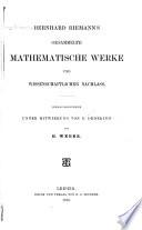 Gesammelte mathematische Werke und wissenschaftlicher Nachlass