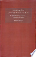 The Works Of Thomas Traherne Commentaries Of Heaven Part 1 Abhorrence To Alone