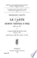 Le carte dello Archivio vescovile d Ivrea