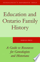 Education And Ontario Family History book