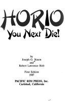 Horio  you next die