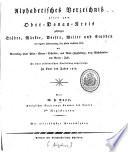 Alphabetisches Verzeichniß aller zum Ober-Donau-Kreis gehörigen Städte, Märkte, Dörfer, Weiler und Einöden ... zu Ende des Jahres 1818