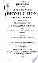 The History of the American Revolution, in Scripture Style