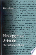 Heidegger And Aristotle