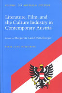 Literature  Film and the Culture Industry in Contemporary Austria
