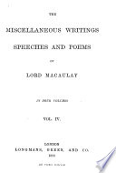 Introductory report and notes upon the Indian Penal Code  Lays of ancient Rome  Miscellaneous poems  inscriptions  etc  Index