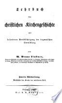 Lehrbuch der christlichen Kirchengeschichte
