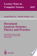 Document Analysis Systems  Theory and Practice Book PDF
