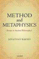 Method and Metaphysics