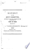 Report of the Joint Committee, Appointed to Take Into Consideration the Arrangement of Books and Maps Belonging to Congress Pdf/ePub eBook