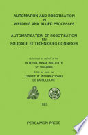 Automation and Robotisation in Welding and Allied Processes