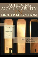 Achieving Accountability in Higher Education