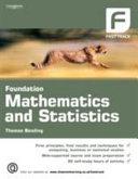 Foundation Mathematics and Statistics