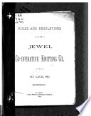 Rules And Regulations Of The Jewel Co Operative Knitting Co Of St Louis Mo