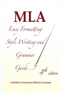 MLA Easy Formatting Style Writing and Grammar Guide