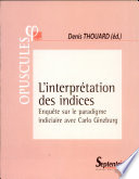 illustration du livre L' Interprétation des indices