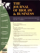 The Journal Of Biolaw Business