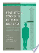 Statistical Tools In Human Biology Proceedings Of The 17th Course Of The International School Of Mathematics G Stampacchia  book