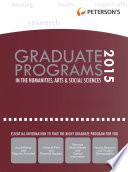 Graduate Programs in the Humanities, Arts & Social Sciences 2015 (Grad 2)